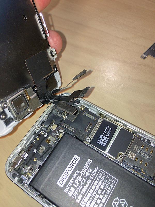 載せ替えたバッテリーiPhone5s