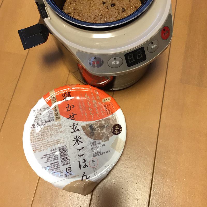 寝かせ玄米と炊飯器