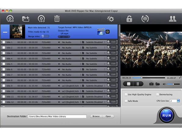 Mac用のWinX DVDリッパー