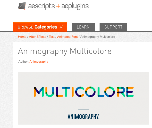 Animated Font / Animography Multicolore