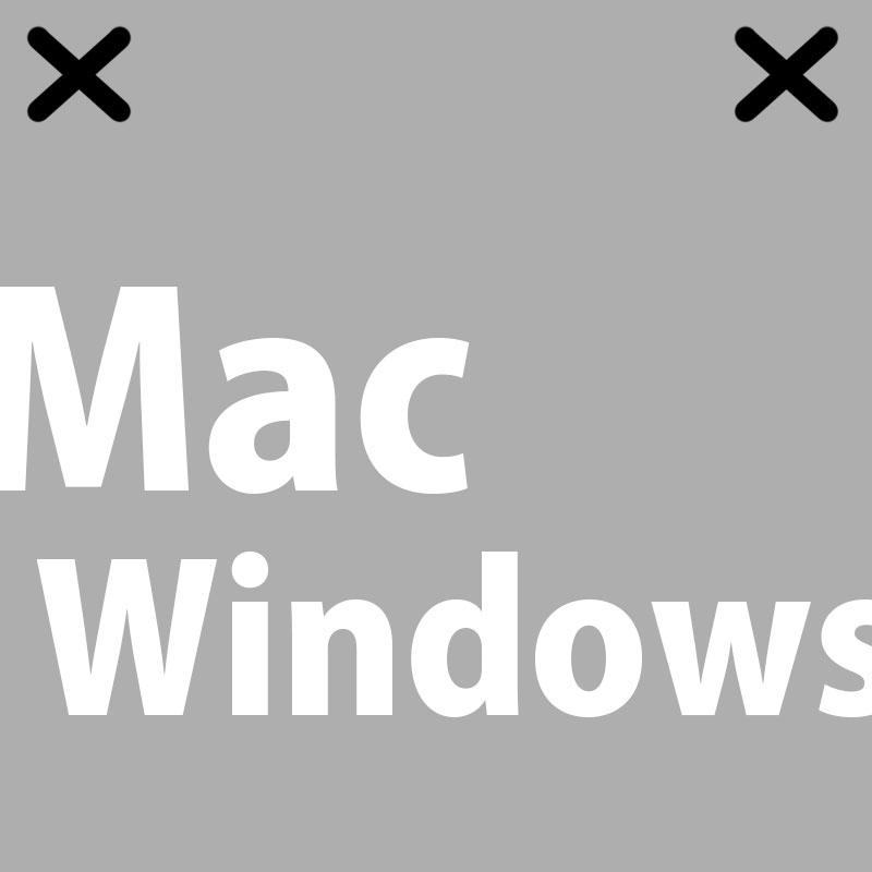 Macが左だったからWindowsは右に