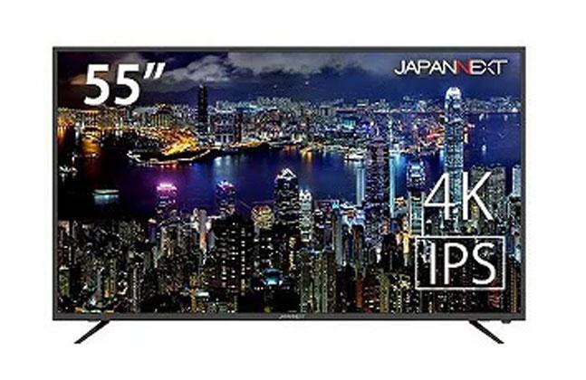 JAPANNEXT 55型4K液晶モニターHDMI 2.0 HDCP2.2 60Hz IPSパネル JN-IPS5500TUHD JN-IPS5500TUHD